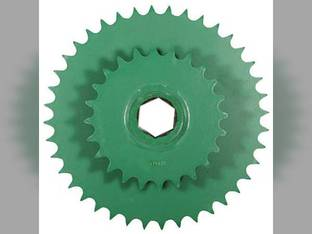 Sprocket - Double Lower Drive Roller John Deere 448 566 466 567 467 559 458 456 457 459 556 558 557 446 449 547 546 447 AE54302