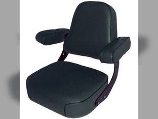 Seat Assembly Vinyl Black John Deere 4050 9400 4630 4240 4010 4450 4640 4230 3010 9410 4250 3020 4650 7700 9510 9600 4255 2355 4455 4000 7720 4840 4020 4430 8430 4040 4030 9610 4440 4850 4320 2520