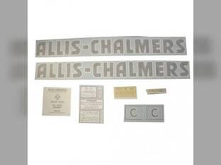Vinyl Decal Set - C Black Letters Vinyl Allis Chalmers C