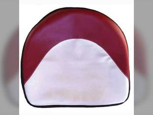 "Pan Seat 21"" Deluxe Cushion Vinyl Red & White Ford 5600 600 2110 8N 800 5000 2600 4600 2610 2000 6600 3000 3600 4000 4100 4110 International 350 M H 300 400 460 450 Massey Ferguson 30 35 135 65 50 20"