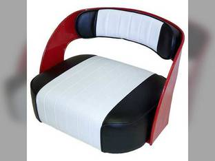 Seat Assembly Vinyl Black/White Original Pleated Pattern International 2606 560 230 706 240 806 606 300 340 460 2504 200 2404 504 330 2524 404