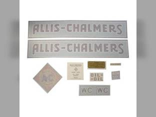 Decal Set WC 1933-38 w/Border Vinyl Allis Chalmers WC