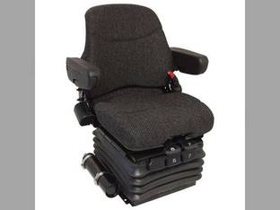 Seat Assembly - Air Suspension Fabric Brown Case IH MX135 MX210 MX230 MX120 MX255 New Holland John Deere 7410 7400 8300 8410 7710 7800 7700 7810 7510 8310 8400 8100 7600 8210 7200 7210 8110 7610 8200