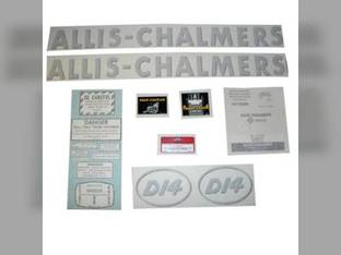 Decal Set D14 w/Oval Model Letters Vinyl Allis Chalmers D14