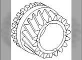 Gear,Transmission Input Shaft, Front