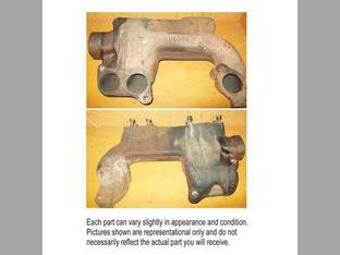 Used Exhaust Manifold - Front John Deere 4050 7020 5200 6620 7700 4840 8440 4640 9940 4430 6602 4630 8450 6622 4250 4650 7720 8820 8430 5440 4440 4850 4450 6600 5400 AR54563