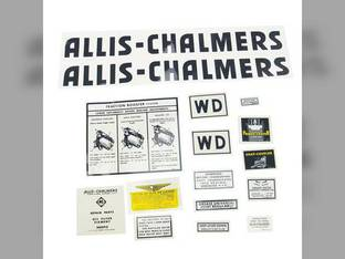 Decal Set WD Black Mylar Allis Chalmers WD