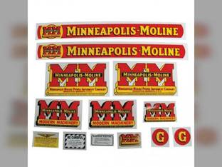 Tractor Decal Set G Mylar Minneapolis Moline G