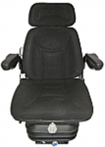 Seat and Suspension Assembly - Black Fabric