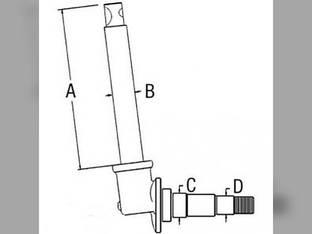 Spindle - LH White 2-44 Oliver Super 55 106464A