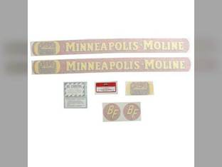 Tractor Decal Set BF Avery R Full Size Gold Tractor Vinyl Minneapolis Moline R BF