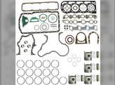 """Engine Rebuild Kit - Less Bearings - .020"""" Oversize Pistons Ford BSD444 268 6600 6610 6700 6710"""