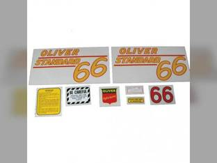 Tractor Decal Set 66 Standard Yellow Mylar Oliver 66