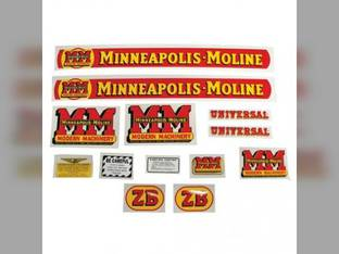 Tractor Decal Set ZB Mylar Minneapolis Moline ZB Z