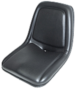 Kub 85 Large Bucket Seat - Black Vinyl