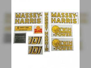 Tractor Decal Set 101 Twin Power Mylar Massey Harris 101