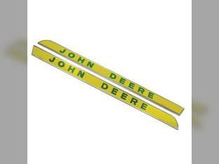 Side Molding Emblem Set - Flat Style John Deere 2020 2020 2510 2510 4620 4620 7020 7020 4010 4010 3010 3010 2010 2010 3020 3020 4520 4520 5020 5020 4000 4000 4020 4020 1020 1020 4320 4320 2520 2520