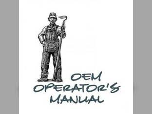 Operator's Manual -JD-O-OMRW19870 John Deere 850 1050 950