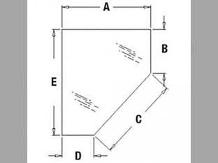 Cab Glass - Door Lower RH Case 580M 580 Super M 590 338428A1