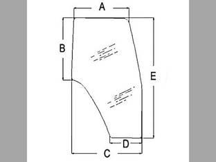 Cab Glass Door LH New Holland TL80 TS115 TS90 TM135 TS110 TM150 TL90 TM140 TM165 TM120 TM115 TM190 TL100 TM130 TM155 TL70 TM175 TM125 TS100 Case IH MXM120 MXM175 JX1090U MXM155 MXM130 MXM190 MXM140