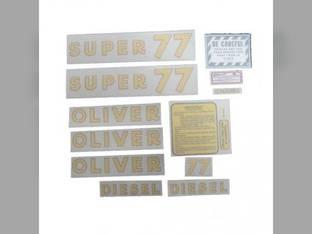 Tractor Decal Set Super 77 Diesel Vinyl Oliver Super 77