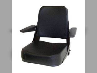 Seat Assembly Comfort Classic Fabric Black Case 580SD 780B 480F 480D 580C 480FLL 680CK 480E 584 480C 580D 585 Allis Chalmers 7020 7010 8010 8050 8030 200 8070 6060 6080 7000 6070 7040 185 7060 Bobcat