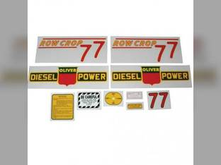 Tractor Decal Set 77 Row Crop Diesel Red Mylar Oliver 77