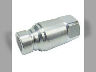 "Parker - Hydraulic Quick Coupler Nipple Male Flat Face 1/2"" 3675 PSI Universal Thomas T255 T250 T175 T153 T137 T320 T105 T205"