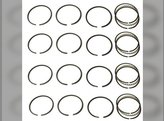 "Piston Ring Set - .020"" Allis Chalmers 149 D10 D12 D14 D15 Oliver 550 66 660 Super 55 Super 66 John Deere 24 Case S New Holland L35 Waukesha G155 Wisconsin VG4D"