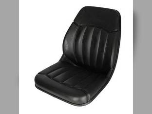 Bucket Seat Vinyl Black Case 580K 580 480C 1840 1845C 480 430 450 580 Super L 440 420 580 Super M 580B 580L Bobcat Ford 655 550 555 455 Mustang Gehl Daewoo New Holland Massey Ferguson Caterpillar JCB
