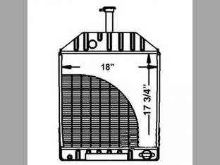 Radiator Ford 550 555 E0NN8005EA15L