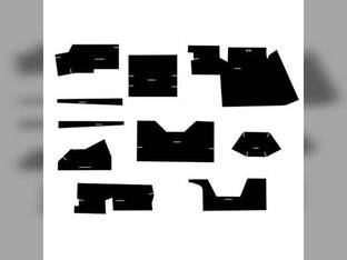 Cab Foam Kit with Headliner for Tractors with Cab Black Case 770 1070 870 970 1175 1170