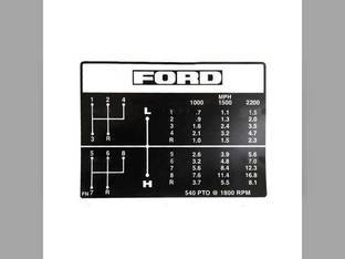 Shift Pattern Decal Ford 4000 4100 C5NN7B292FN