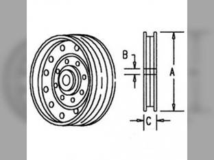 Flanged Idler Pulley John Deere 6610 9510 6622 9750 STS 9500 9410 9610 9400 6620 9550 9650 STS 9560 STS 9650 CTS 9660 STS CTSII 9860 STS 6602 9650 CTS 9660 9560 9760 STS 9660 CTS 9450 9600 7720 8820