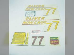 Tractor Decal Set 77 Row Crop Yellow Vinyl Oliver 77