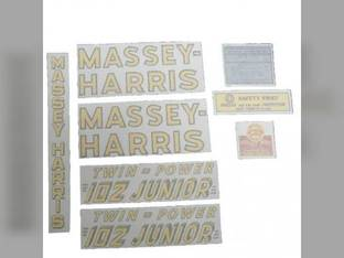 Tractor Decal Set 102 Junior Twin Power Vinyl Massey Harris 102
