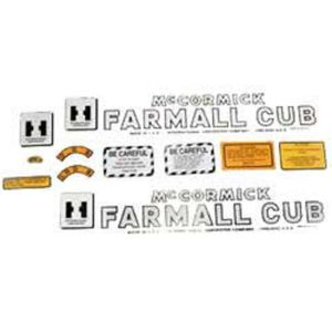 Tractor Decal Set Farmall Cub Mylar International Cub