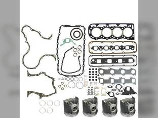 "Engine Rebuild Kit - Less Bearings - .020"" Oversize Pistons Ford 7740 304T New Holland 7610S 7010"