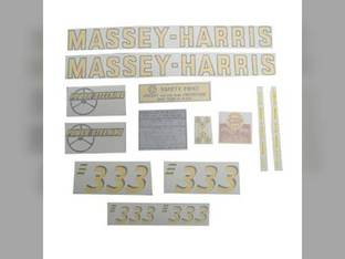 Tractor Decal Set 333 Vinyl Massey Harris 333
