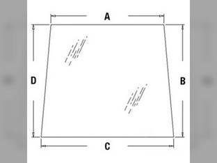 Cab Glass - Windshield Upper Kubota M4900 M5700 M9000 M8200 M95 M6800 M105 3G710-70510