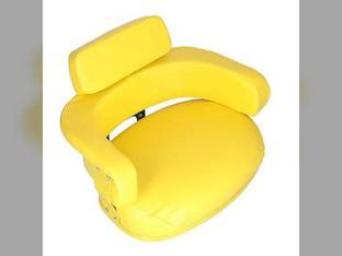 Seat Assembly 3 Piece Set with Hardware Vinyl Yellow John Deere 4630 830 2510 4620 5200 7020 4010 4230 3010 2010 6620 5010 3020 7520 7700 6600 4520 820 5020 4000 4020 4430 4030 5400 6030 4320 2520