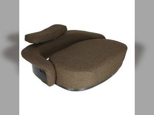 Seat Cushion Set- 3 Piece Fabric Brown John Deere 4630 400 830 2510 4620 5200 7020 4010 4230 3010 2010 6620 5010 3020 7520 7700 6600 4520 820 5020 4000 4020 4430 4030 6000 6602 5400 6030 4320 2520