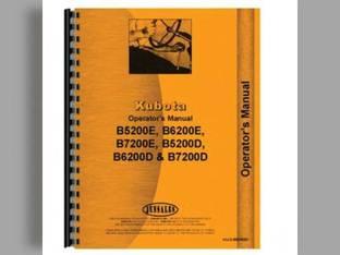 Operator's Manual - KU-O-B5200E+ Kubota B5200 B5200 B5200 B6200 B6200 B6200 B7200 B7200 B7200