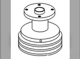 Water Pump Pulley White Minneapolis Moline Oliver 1755 168766A
