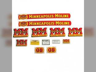 Tractor Decal Set GB Mylar Minneapolis Moline GB