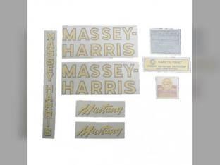 Tractor Decal Set Mustang Vinyl Massey Harris Mustang