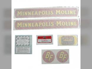 Tractor Decal Set BF Avery R Small Size Gold Tractor Vinyl Minneapolis Moline BF R