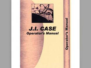 Operator's Manual - CA-O-S Case S S