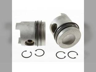 "Piston & Rings - .040"" Oversize Ford TW25 TW20 9700 TW35 BSD666T 8630 8730 8830 A66 TW30 401T TW15 D9NN6108F"