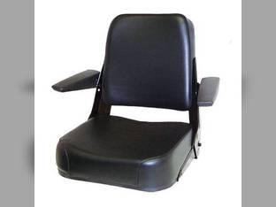 Seat Assembly Comfort Classic Vinyl Black Case 480C 480D 480E 480F 480FLL 580C 580D 584 585 586 680CK 780B Allis Chalmers 185 200 6060 6070 6080 7000 7010 7020 7040 7060 8010 8030 8050 8070 Bobcat